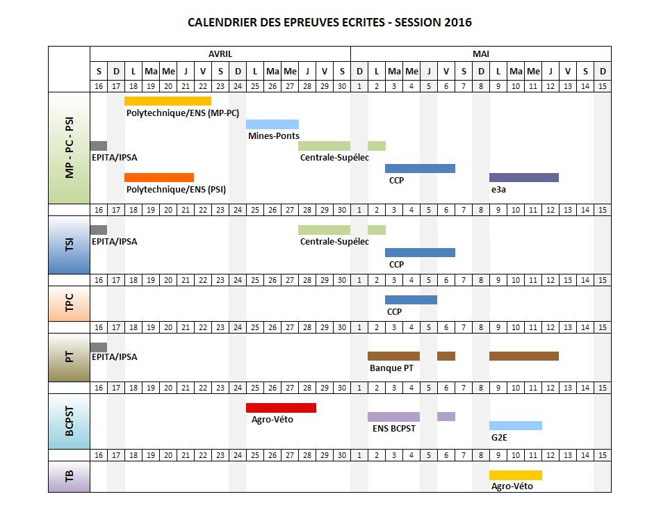 Calendrier Concours Cpge 2019.Mp1